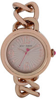 Betsey Johnson Rose Gold Link wth Black Leather