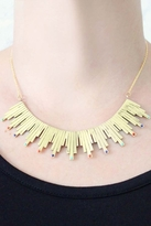 Chibi Jewels Solar Rays Collar Necklace in Brass