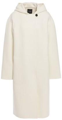 Theory Brushed Wool-blend Felt Hooded Coat
