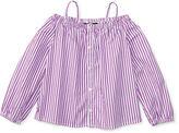Ralph Lauren 2-6X Striped Off-The-Shoulder Shirt