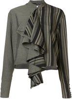 Isabel Benenato cropped ruffle blouse