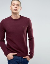 Farah Rosecroft Crew Neck Logo Jumper