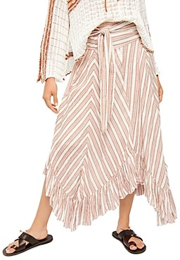 Free People Giselle Chevron Asymmetric Maxi Skirt