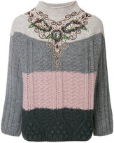 Antonio Marras colour-block knitted top