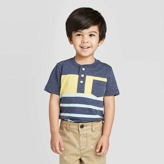 Osh Kosh Toddler Boys' Short Sleeve Stripe Henley Knit T-Shirt - /Yellow