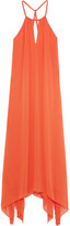 Alice + Olivia Jaelyn Crepon Halterneck Maxi Dress - Orange