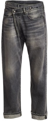 R 13 Faded Crossover Jeans