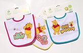 "Winnie The Pooh Winnie-the-Pooh PEVA Lined Baby Bib - ""Smile"", ""Bee Groovy"" & ""Got Hunny?"" (Pack of 3)"