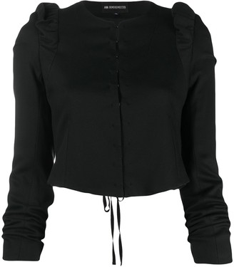 Ann Demeulemeester Cropped Ruffled Jacket
