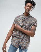 Rollas Black Floral Shirt