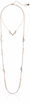 lonna & lilly Women's Gold/Pink 28 inch 2 Row Necklace