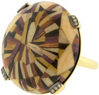 Silvia Furmanovich Pink Marquerty Brown Diamond Ring
