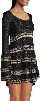 M Missoni Wool-Blend Striped Crochet Dress