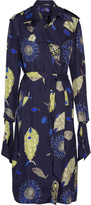 Emilio Pucci Belted printed silk-twill trench coat