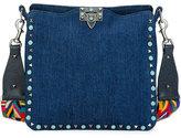 Valentino Rolling Rockstud Medium Hobo Bag, Denim/Multi
