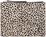 Jaeger Animal Print Leather Clutch Bag, Multi