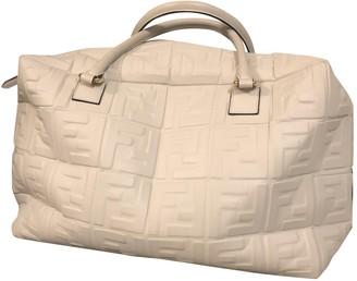 Fendi White Leather Handbags