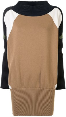 Sacai Colour-Block Knitted Dress
