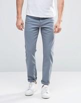 Asos Stretch Slim Jeans In Light Blue