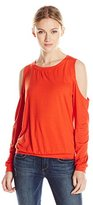 Trina Turk Women's Arielle Must Have Jersey Cold Shoulder Top