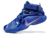 OAOA Men's Lebron Soldiers 9 Basketball Shoes Black White 8.5 D(M) US=42EU