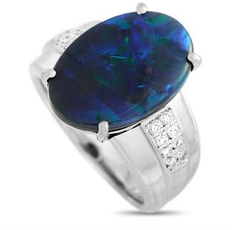 Heritage Platinum 4.38 Ct. Tw. Diamond & Opal Ring