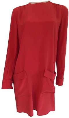 Miu Miu Red Silk Dresses