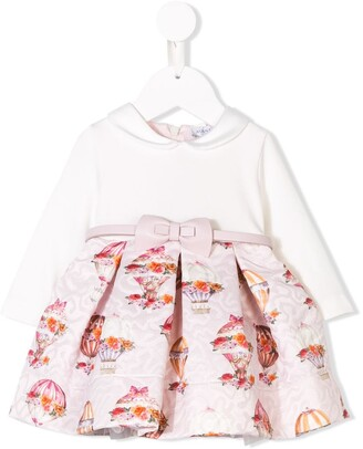 MonnaLisa Long-Sleeve Printed Dress