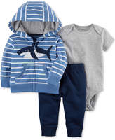 Carter's 3-Pc. Cotton Hoodie, Bodysuit and Pants Set, Baby Boys