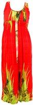 Hots-Wing Women's Plus Size Boho Printed Long Maxi Dress