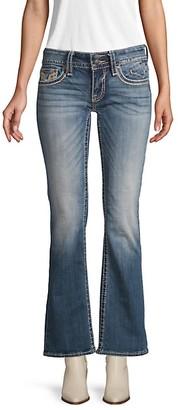 Vigoss Contrast Stitch Flared Jeans