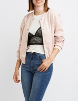 Charlotte Russe Faux Suede Bomber Jacket