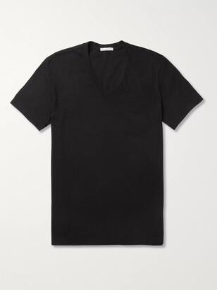James Perse Slim-Fit Combed Cotton-Jersey T-Shirt - Men - Black