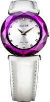 Jowissa Women's J1.011.M Safira 99 Silver Dial Purple Faceted Sapphire Bezel Watch