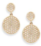 KC Designs Diamond & 14K Yellow Gold Disc Drop Earrings