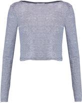 A.L.C. Evie striped linen-jersey top