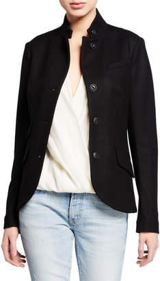 Rag & Bone Slade Wool Stand-Collar Blazer