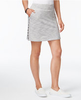 Style&Co. Style & Co Striped Embroidered Skort, Only at Macy's