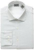 Kenneth Cole Reaction Men's Technicole Slim Fit Star Print Spread Collar Dress Shirt