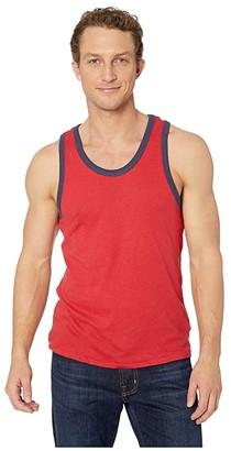 Alternative Vintage 50/50 Jersey Keeper Tank Top (Red/Navy) Men's Sleeveless