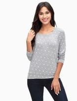 Splendid Polka Dot Boyfriend Sweatshirt