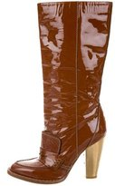 Dolce & Gabbana Patent Leather Mid-Calf Boots