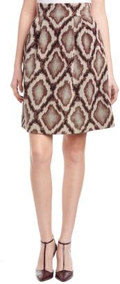 Pink Tartan A-Line Skirt