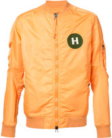 MHI chest patch bomber jacket - men - Nylon - M