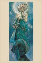 Pyramid America Alphonse Mucha-Moon, Art Poster Print, 24 by 36-Inch