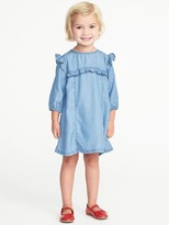 Old Navy Ruffle-Trim Tencel® Dress for Toddler Girls