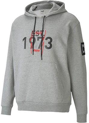 Puma Franchise Hoodie (Medium Gray Heather) Men's Clothing