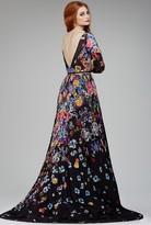Jovani 33925 Floral Bateau A-line Dress