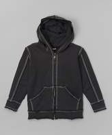 Flap Happy Charcoal Zip-Up Hoodie - Infant Toddler & Boys