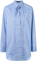 Cédric Charlier pleated panel shirt - women - Cotton - 38